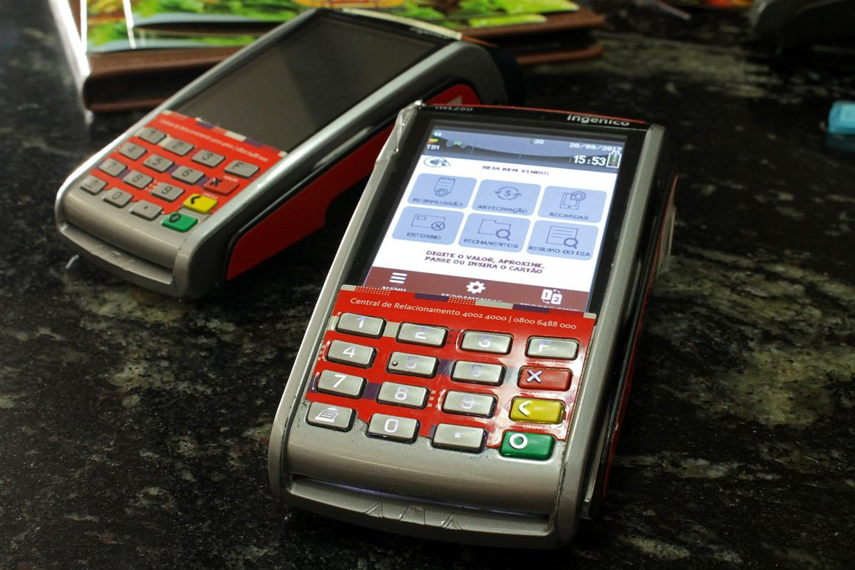 Card machine integrated Epos system